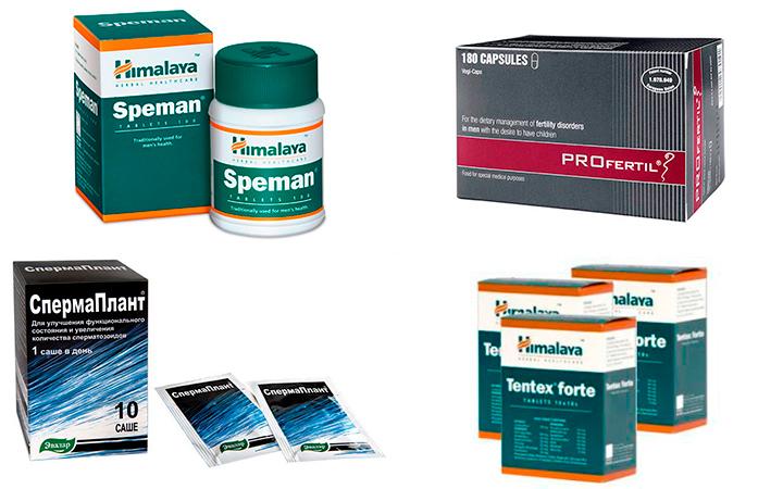 Лекарства для улучшения качества спермы растительного происхождения