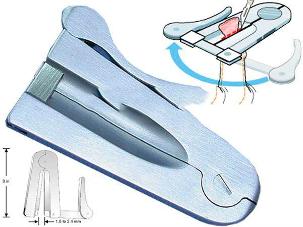 Метод обрезания с использованием зажима
