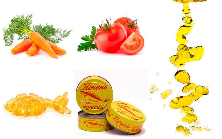 Продукты содержащие каротин