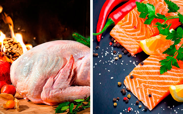 Индейка и рыба при повышенном холестерине заменяют мясо