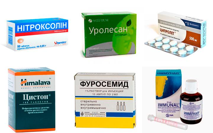 Таблетки для лечения воспаленного мочевого пузыря