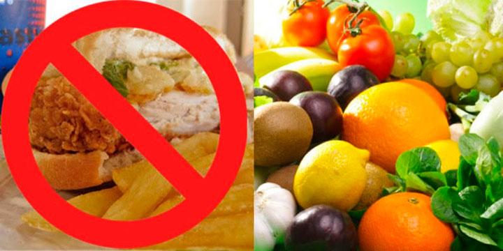 Перед сдачей анализов стоит отказаться от вредной пищи и соблюдать диету