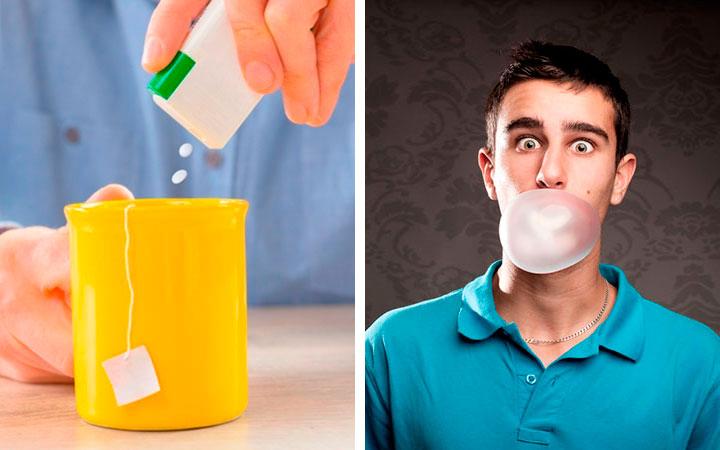 Сахарозаменители и жвачка могут привести к повышенному газообразованию
